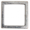Metal 15.5mm Square Frame With 2 Hole Antique Gold